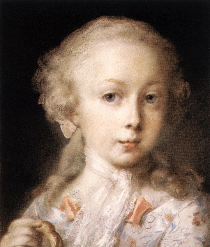 Young Lady Of The Leblond Family 1730 | Rosalba Carriera | Oil Painting