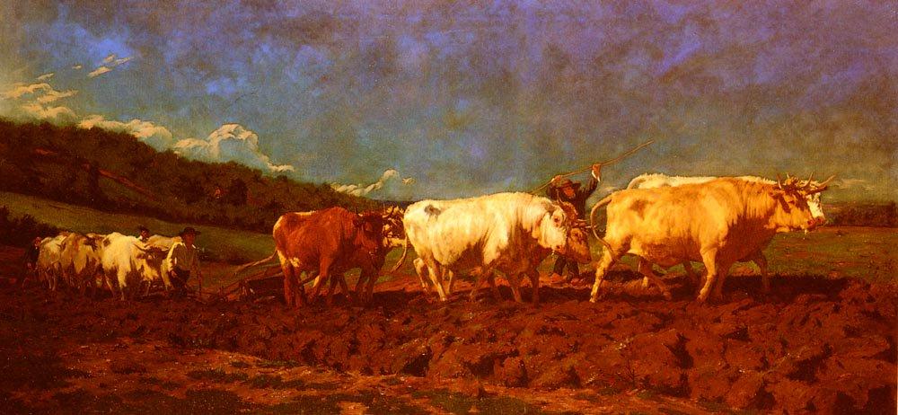 Le labourage Nivernais-Le Sombrage | Rosa Maria Bonheur | Oil Painting