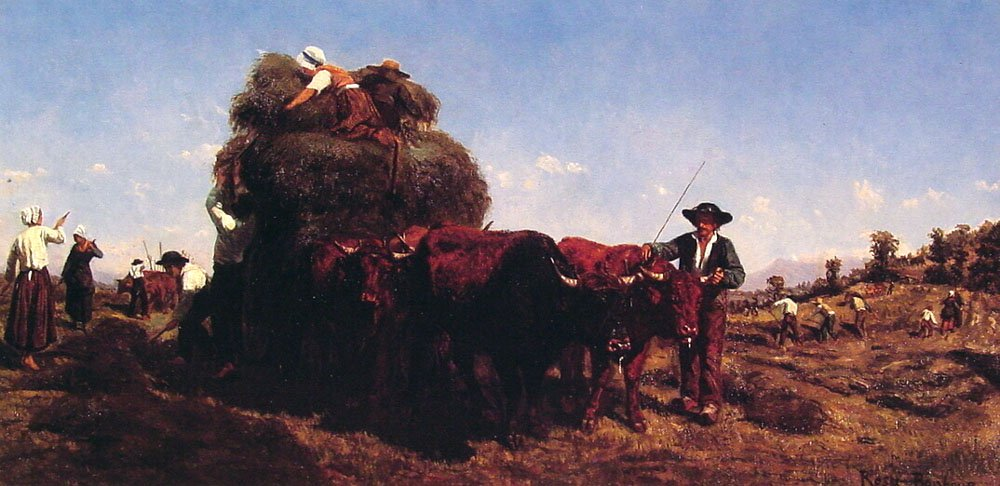 The Return from the Harvest | Rosa Maria Bonheur | Oil Painting