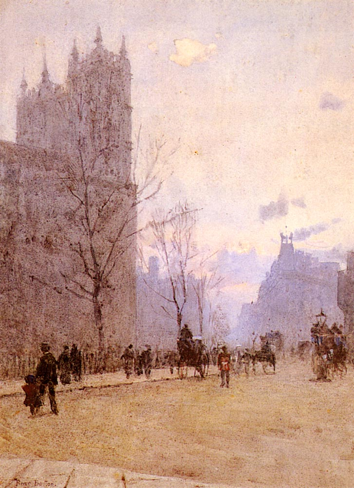 Westminister Abbey | Rose Maynard Barton | Oil Painting