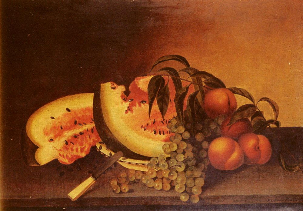 Still Life With Watermelon | Rubens Peale | Oil Painting