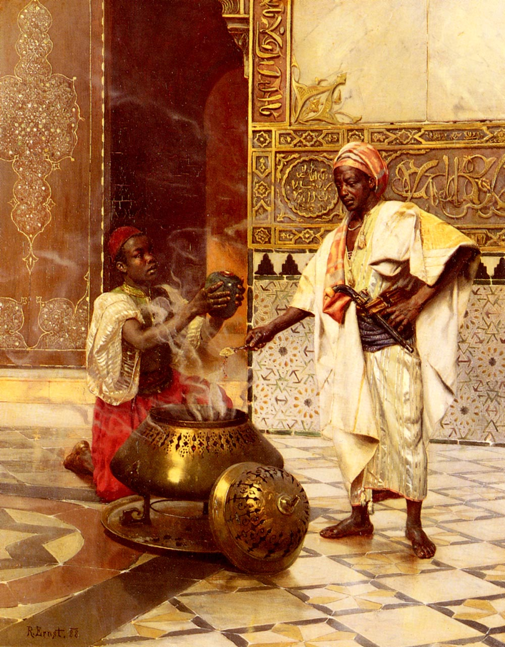 In The Alhambra | Rudolf Ernst | Oil Painting