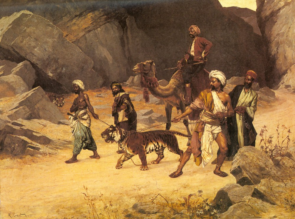 The Tiger Hunt | Rudolf Ernst | Oil Painting