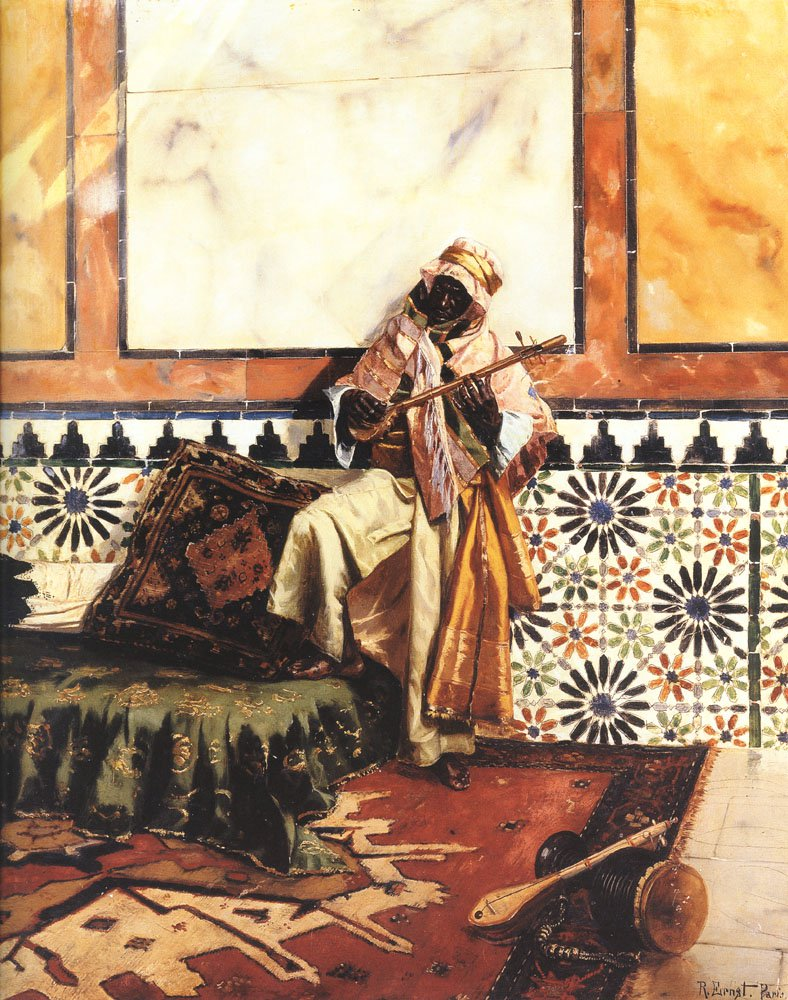 Gnaoua in a North African Interior | Rudolf Ernst | Oil Painting