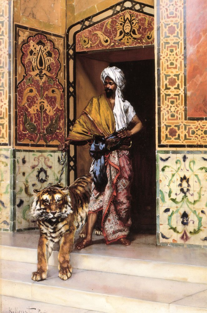 The Pashas Favourite Tiger | Rudolf Ernst | Oil Painting