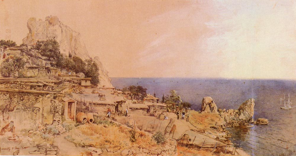 Yursuff   Rudolf Von Alt   Oil Painting