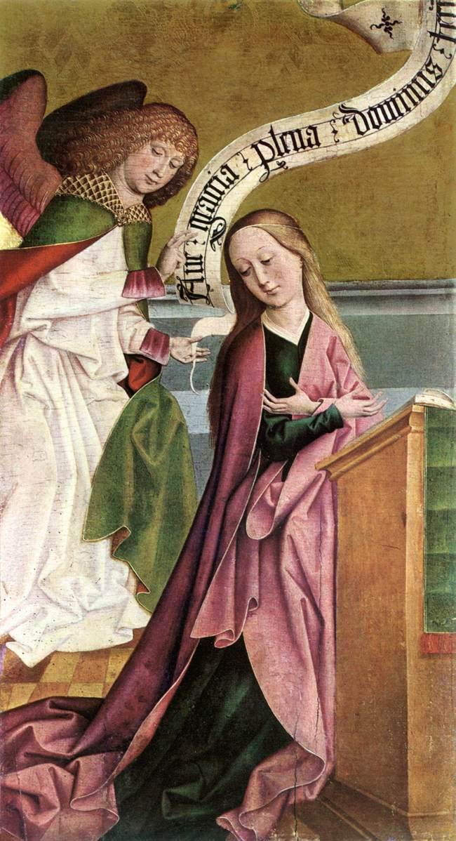 The Annunciation 1495 | Rueland The Elder Frueauf | Oil Painting