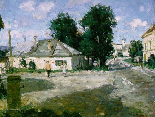 Provincial Street | Aleksander Titovets 1960 | Oil Painting
