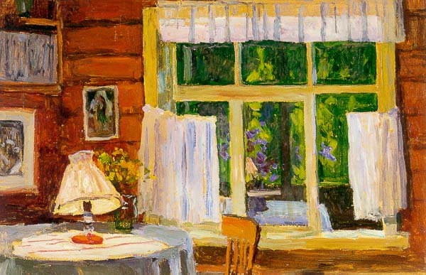 Evening in the Home of Andrei Tutonov 1962 | Aleksei M Gritsai | Oil Painting