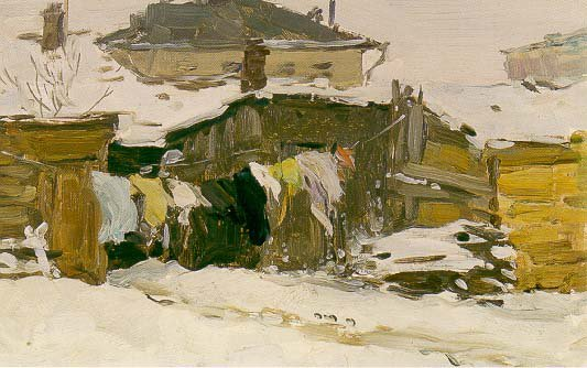 The Laundry is Drying 1945 | Andrei A Tutunov 1928 | Oil Painting