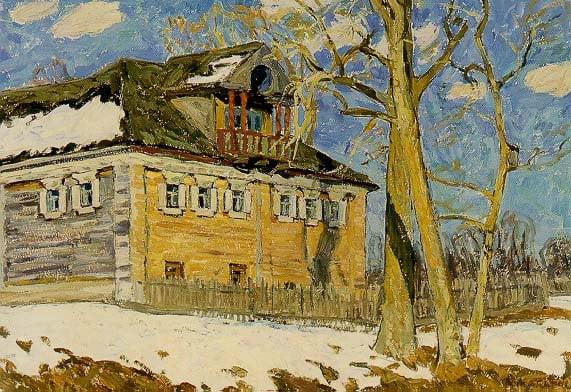 The House 1969   Andrei Nikolaevich Makarov 1923-1987   Oil Painting