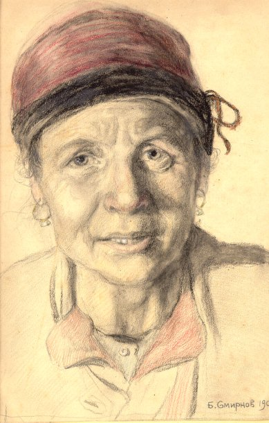 The Ukraine Emigrant   Boris V Smirnov 1881-1954   Oil Painting
