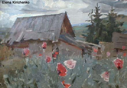 Landscape 1958 | Elena Kirichenko | Oil Painting