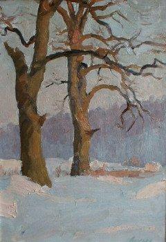 Tree's 1960's   Evgeni D Luchenko   Oil Painting