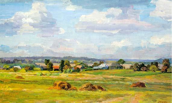 Summer's End | Gennadii Ivanovich Pasko 1940 | Oil Painting