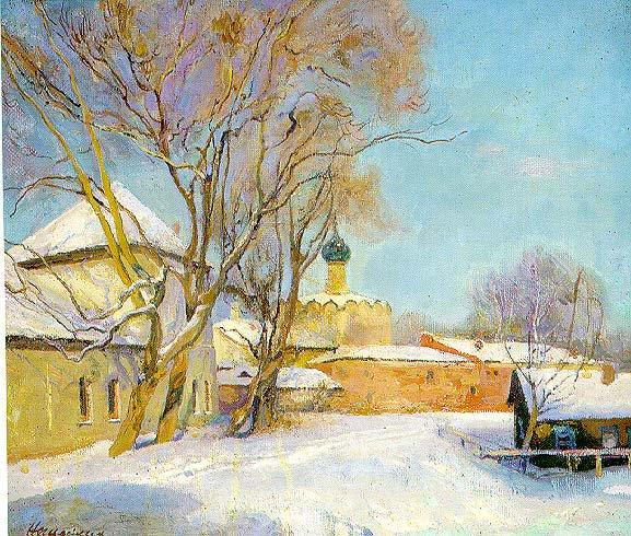 Winter Rostov the Great | German Neznaikin | Oil Painting