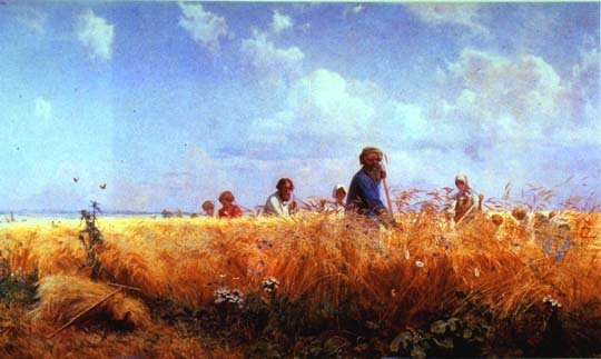 Mowers | Grigory Miasoedov 1834-1911 | Oil Painting