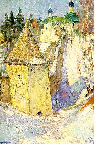 Monastary | Igori I Seredin 1928 | Oil Painting