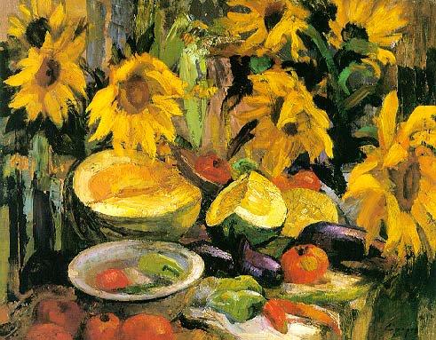 Sunflowers | Igori I Seredin 1928 | Oil Painting