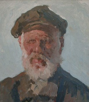 Old Man with a Cap 1950's | Igor I Gorokhov | Oil Painting