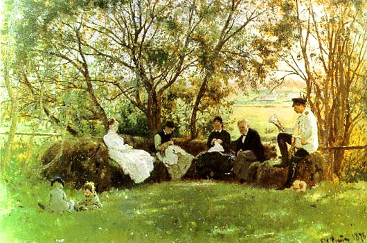 On the turf bench 1876 | Ilya Repin 1844-1930 | Oil Painting
