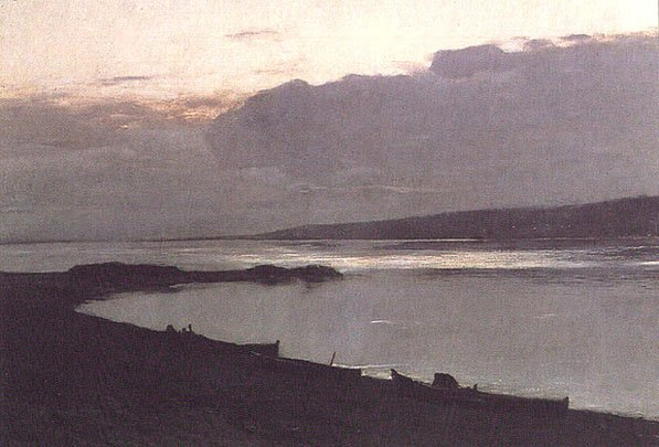 Evening On The Volga 1887-88 | Isaak Levitan 1860-1900 | Oil Painting