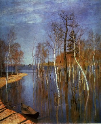 Spring Floodwaters | Isaak Levitan 1860-1900 | Oil Painting