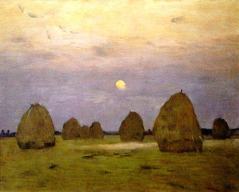 Twilight Haystacks 1899 | Isaak Levitan 1860-1900 | Oil Painting