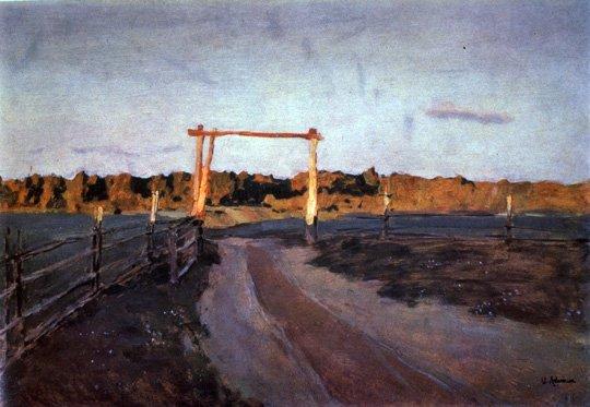 Twilight Summer Evening   Isaak Levitan 1860-1900   Oil Painting