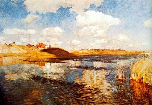 Twilight The Lake 1900 | Isaak Levitan 1860-1900 | Oil Painting