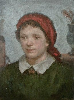 Young Girl 1950 | Ivan D Chasnikov | Oil Painting