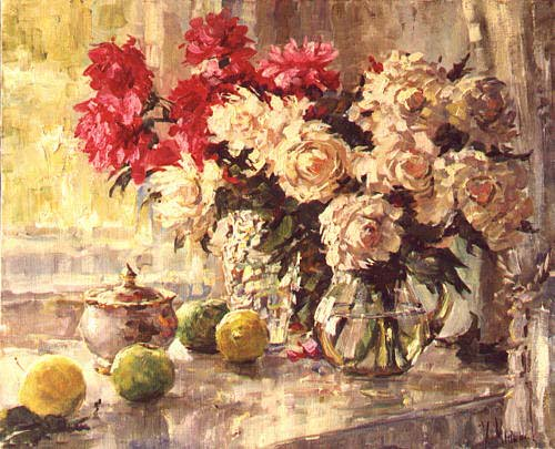 Peonies 1994 | Kirill Malkov 1965 | Oil Painting