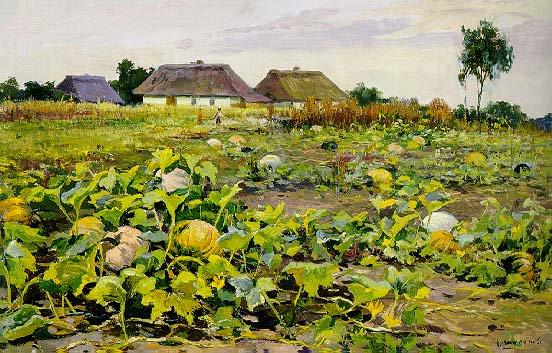 Melon Plant Pumpkins 1945 | Konstantin Alekseevich Shurupov 1910-1985 | Oil Painting