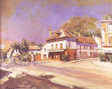 Street Scene | Konstantin Alexyeevich Korovin 1861-1939 | Oil Painting