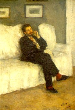 Young Man on a Sofa | Leonid Pasternak 1862-1945 | Oil Painting