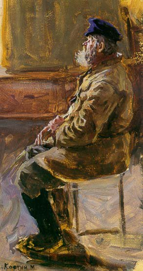 Study of the Old Man 1951 | Mikhail A Kostin | Oil Painting
