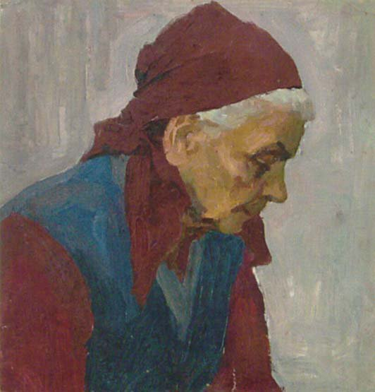 Old Woman 1964 | Mikhail Ivanovich Likhachev 1919 | Oil Painting