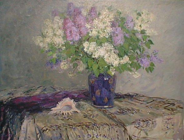 Liliacs 1998 | Natasha Maltceva abt 1950-1960 | Oil Painting