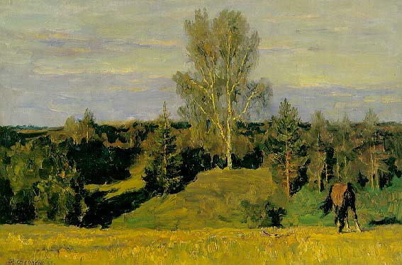 Summer Evening | Nikita Petrovich Fedosov 1939 | Oil Painting