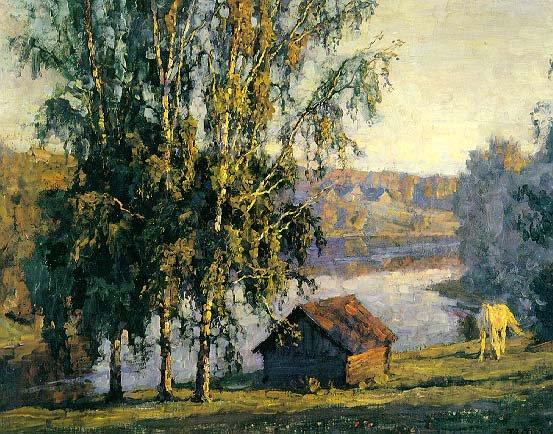 Summer Morning | Nikita Petrovich Fedosov 1939 | Oil Painting