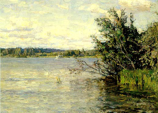 The Lake   Nikita Petrovich Fedosov 1939   Oil Painting