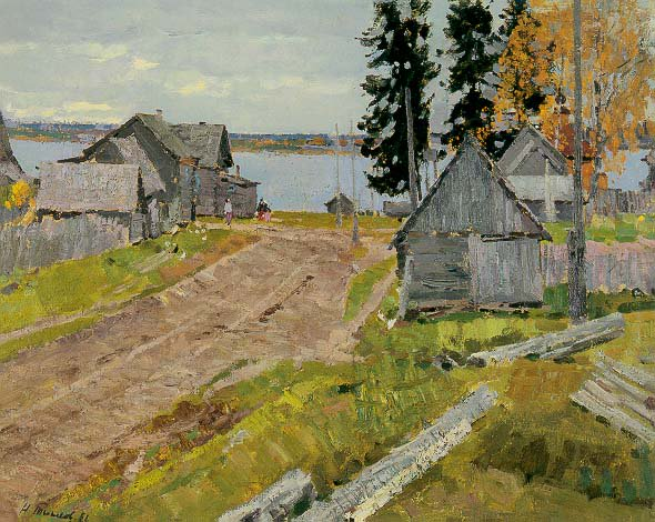 Peaceful Village | Nikolai Efimovich Timkov 1912-1993 | Oil Painting
