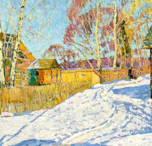 Sunny Day 1973 | Nikolai Efimovich Timkov 1912-1993 | Oil Painting