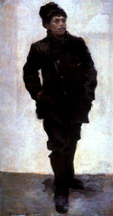 Militant Worker | Nikolai Kasatkin 1859-1930 | Oil Painting
