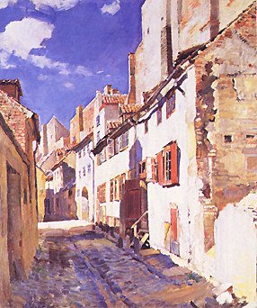 Narrow Street 1924 | Sergei Arsenyevich Vinogradov 1869-1938 | Oil Painting