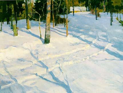 Winter Road in March 1977 | Sergei Fedorovich Babkov 1920-1993 | Oil Painting