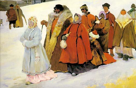 The Family | Sergei Ivanov | Oil Painting
