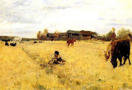 October Domptkanovo 1895 | Valentin A Serov 1865-1911 | Oil Painting