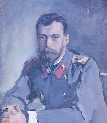 Tsar Nicholas II abt 1900 | Valentin A Serov 1865-1911 | Oil Painting