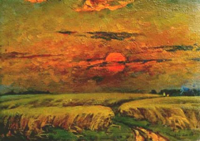 Cereal Field | Vasilij Belikov 1921-1994 | Oil Painting